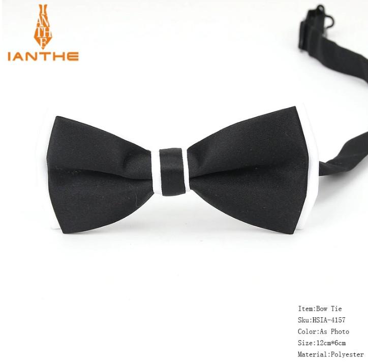 Мужской галстук-бабочка Черно-белая