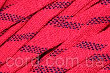 Шнур акрил плоский чехол 15мм (50м) красный с синим