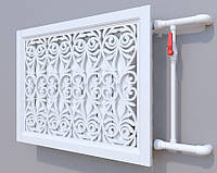 Декоративная решетка на батарею SMARTWOOD | Экран для радиатора | Накладка на батарею 600*600 SMARTWOOD | Экран для радиатора | Накладка на батарею Без отделки, размер под заказ
