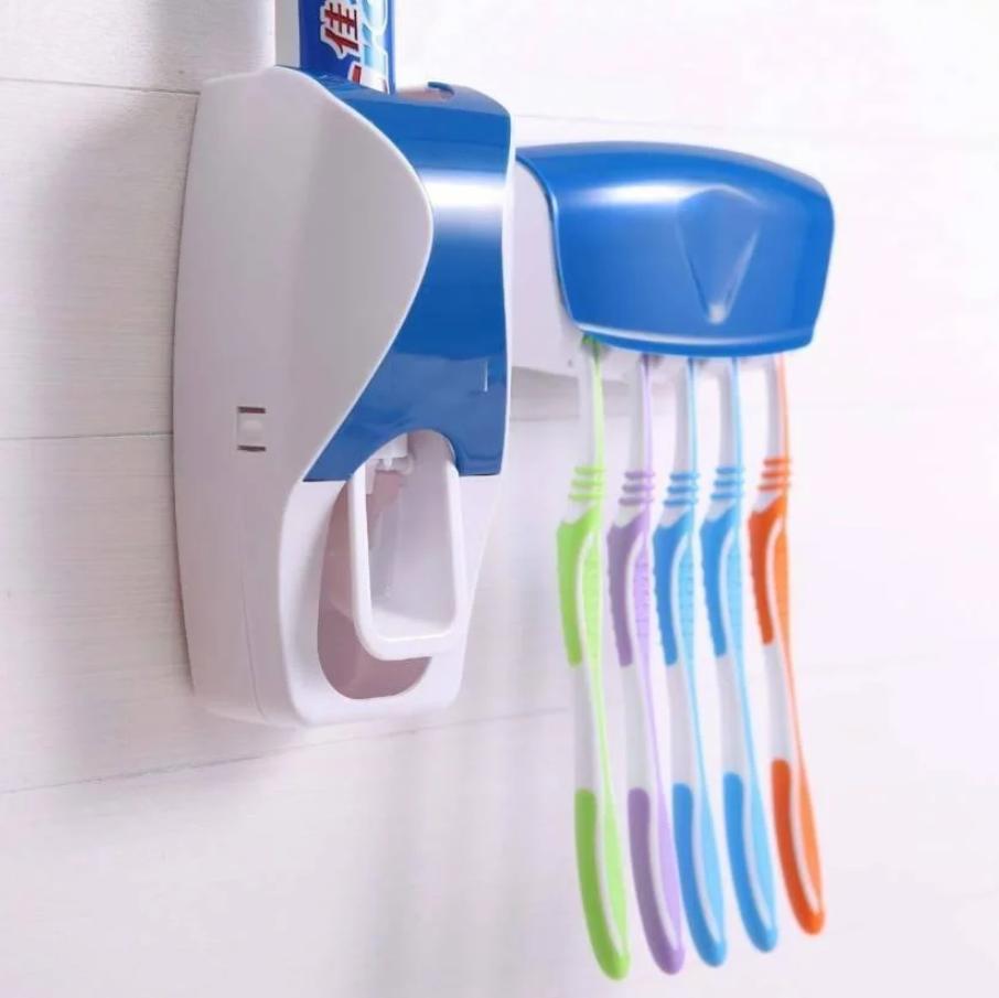 Диспенсер для зубной пасты с держателем