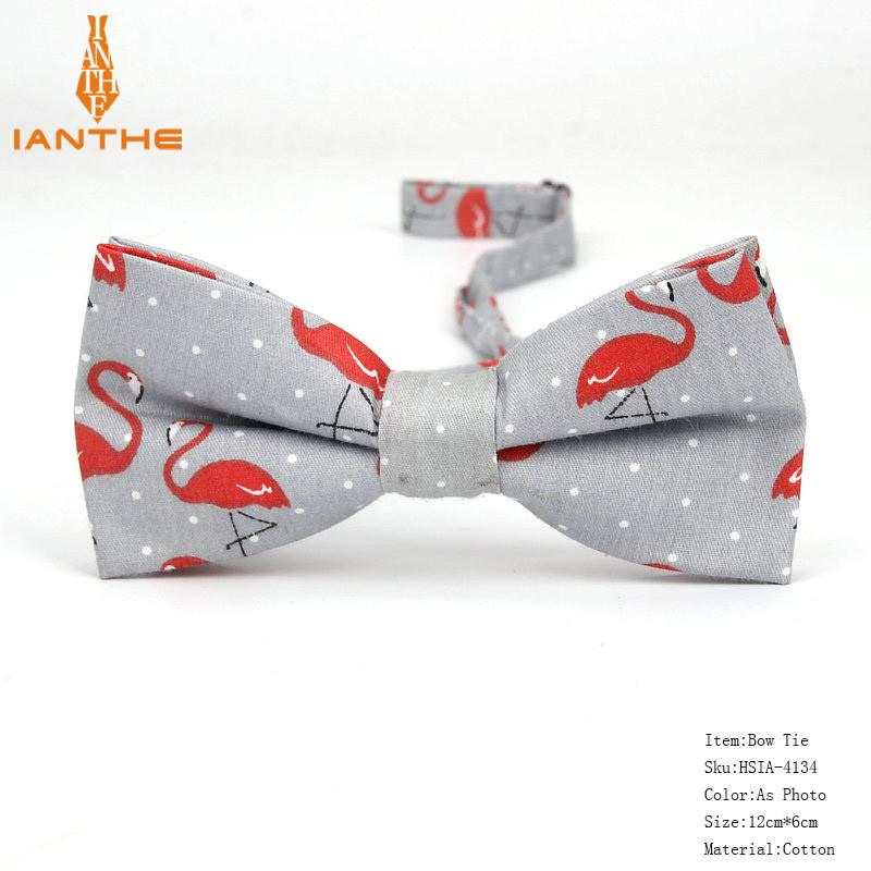 Чоловіча краватка-метелик з принтом Фламінго