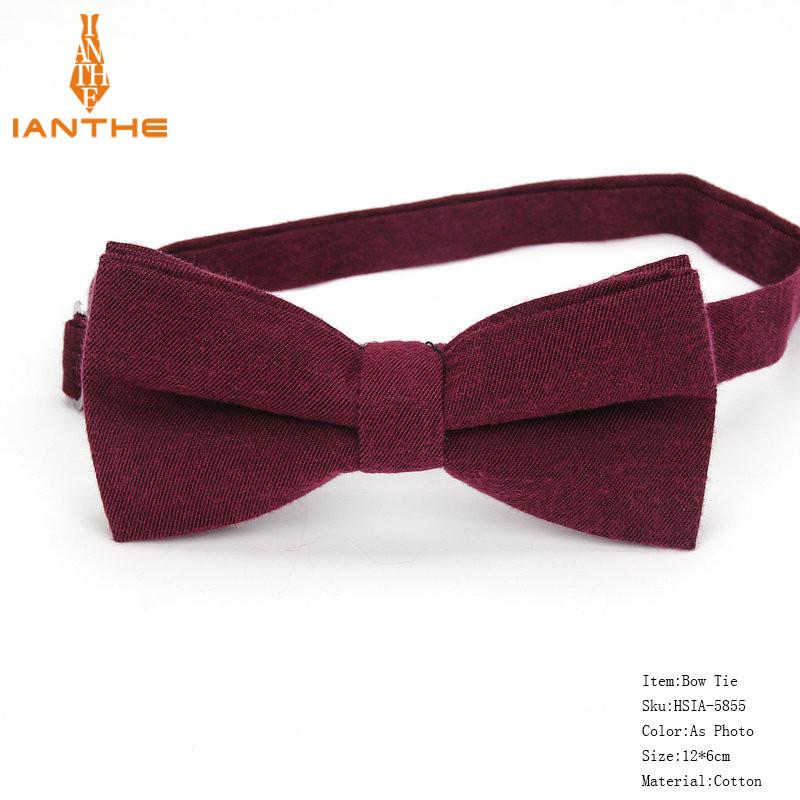 Мужской галстук-бабочка Бордо