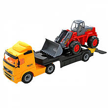 Вантажівка з причепом + екскаватор Wader 36896