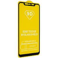 Защитное стекло 9D для Xiaomi Mi8 black