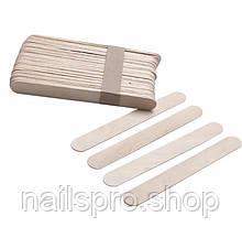 Шпатели деревянные широкие, 50 шт.