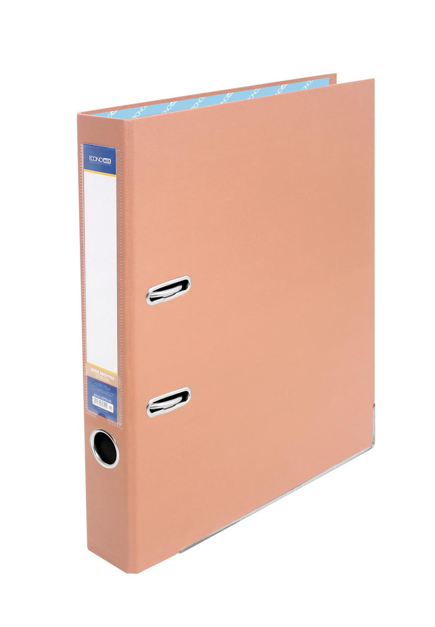 Папка-регистратор А4, Economix, 50 мм, персик, E39720-66