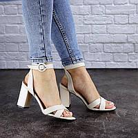 Женские босоножки кожаные Fashion Nita 1809 39 размер 25 см Бежевый