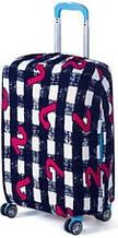 Чохол для валізи Bonro середній L чорно-білий (12052403)