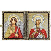 """Набор для вышивки иконы в рамке-складне """"Св.Мц.Татьяна (Татиана)Римская и Ангел Хранитель"""""""