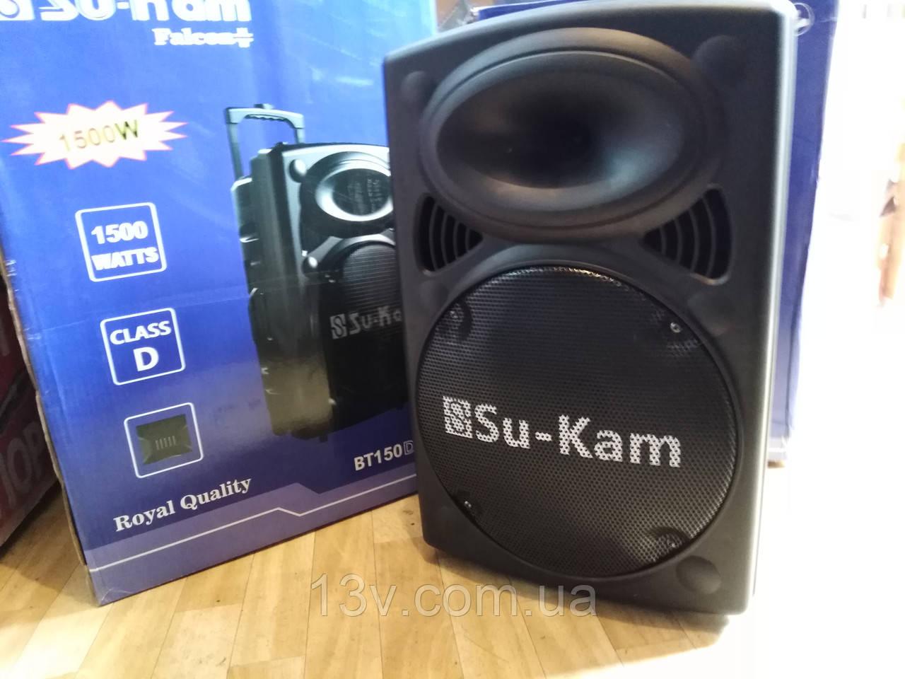 Активна акустика з акумом UKC BT12 (два мікрофони в комлекті)