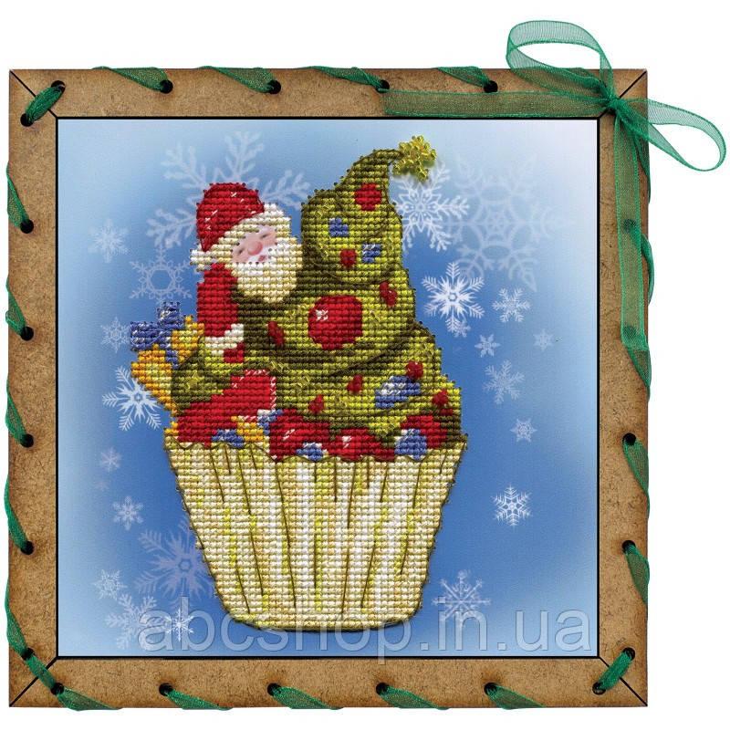 """Набор для вышивки на полимерной перфорированной основе Perfostitch""""Рождественское пирожное"""""""