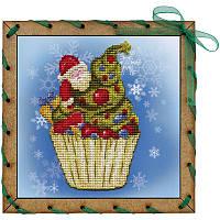 """Набор для вышивки на полимерной перфорированной основе Perfostitch""""Рождественское пирожное"""", фото 1"""