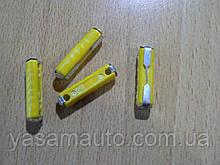 Предохранитель цилиндрический 5А пластиковый длина 23.5мм Польша желтый 1шт