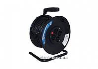 Подовжувач електричний на котушці BEMKO 40 м 1 мм² 4 гнізда