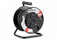 Подовжувач електричний на котушці YATO 20 м 1.5 мм² 4 гнізда 3-жильний