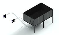 Бункер для пеллет 8м3 для запитки 2х пеллетных горелок