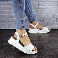 Женские босоножки кожаные Fashion Nux 1813 39 размер 25 см Белый