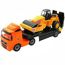 Вантажівка з причепом і катком Wader 36902