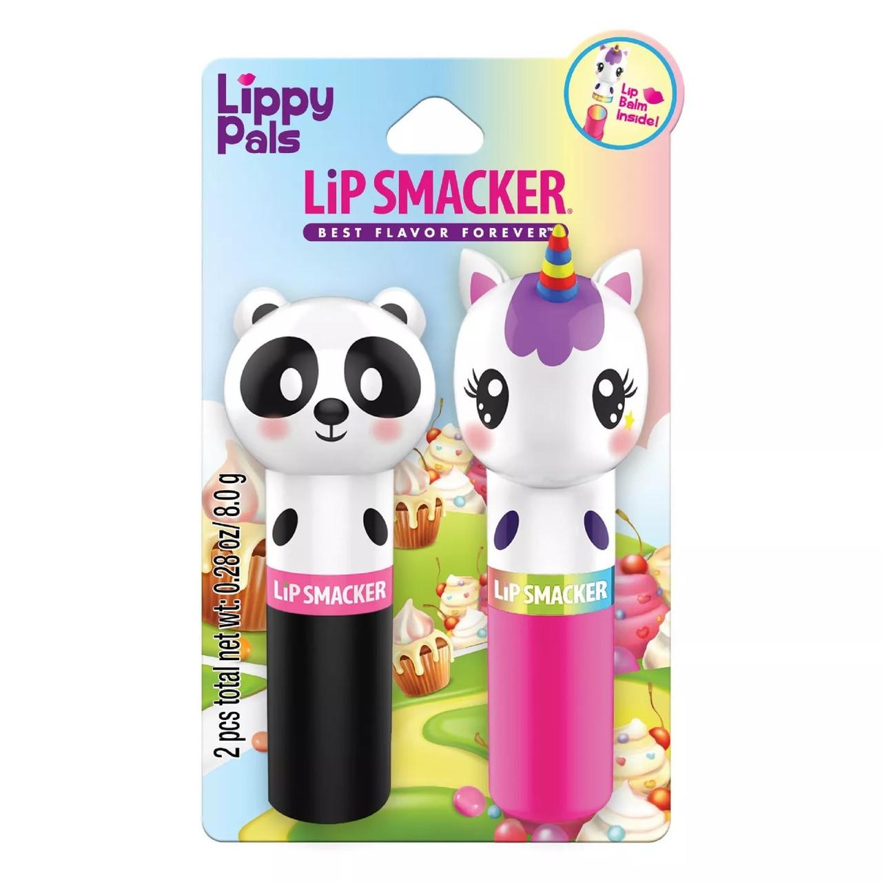 Набор детских бальзамов Lip Smacker Lippy Pals Panda and Unicorn Lip Balm