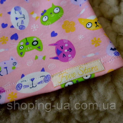 Детская футболка розовая с котиками Five Stars KD0316-110p, фото 2