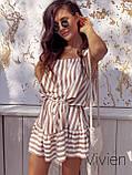 Літній сарафан жіночий короткий з тканини софт в смужку р. 42-46,48-50,52-54 код 1231Х, фото 5