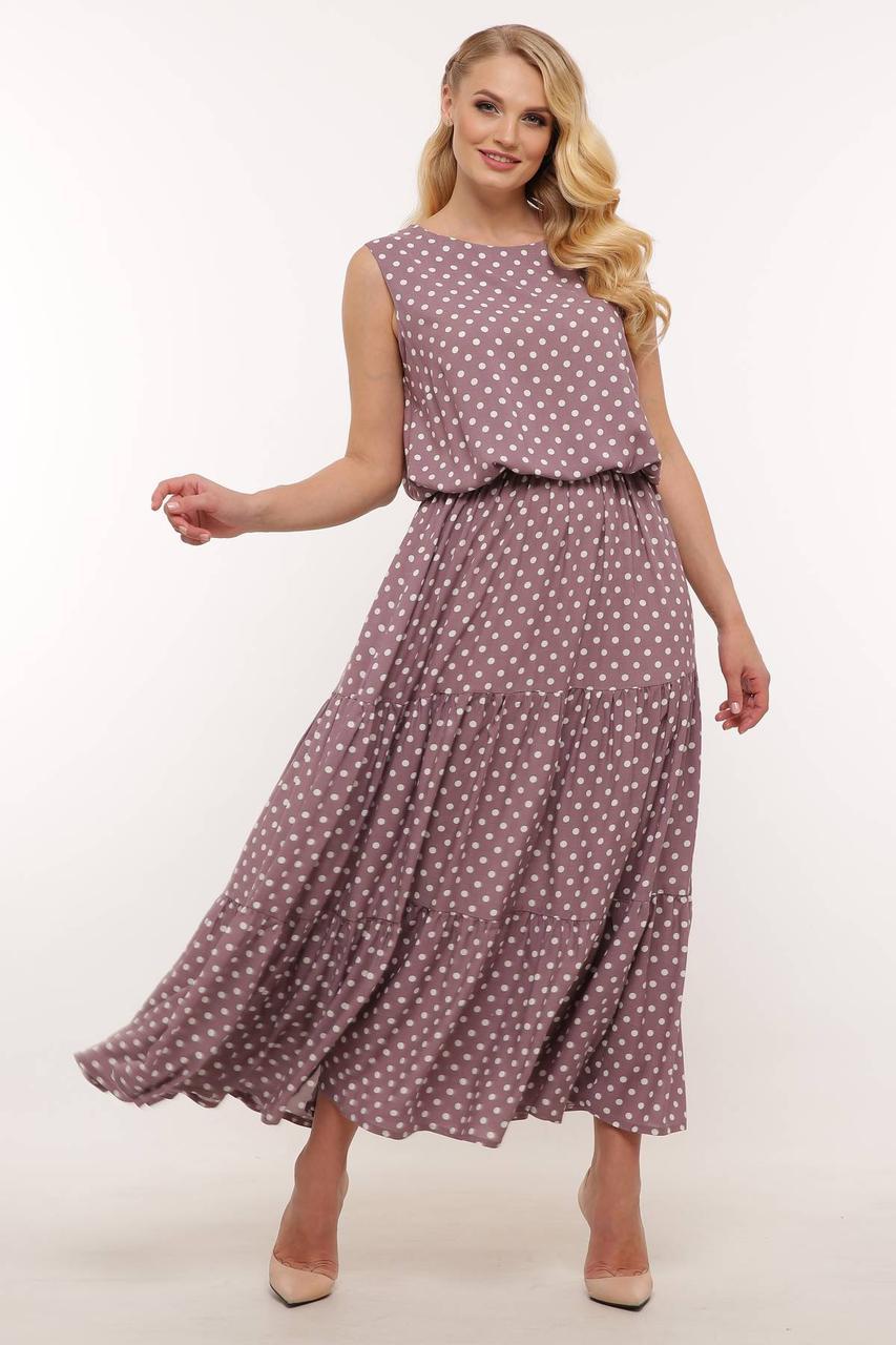 Сукня з штапелю в горох максі розмір 54-60 2020