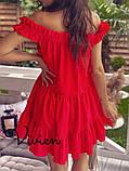 Платье женское летнее с открытыми плечами и А-образном крое, 4 цвета р.42-46, 48-50,52-54, код 1234Х, фото 8