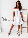 Платье женское летнее с открытыми плечами и А-образном крое, 4 цвета р.42-46, 48-50,52-54, код 1234Х, фото 2