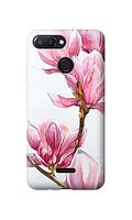 Чехол «Розовый цветок» для Xiaomi Redmi 6 (2018) - silicone 2d transparent Силиконовый