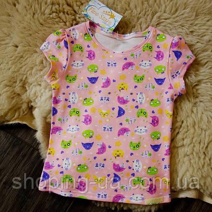 Детская футболка розовая с котиками Five Stars KD0316-122p, фото 2
