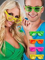 Карнавальные разноцветные очки для взрослых