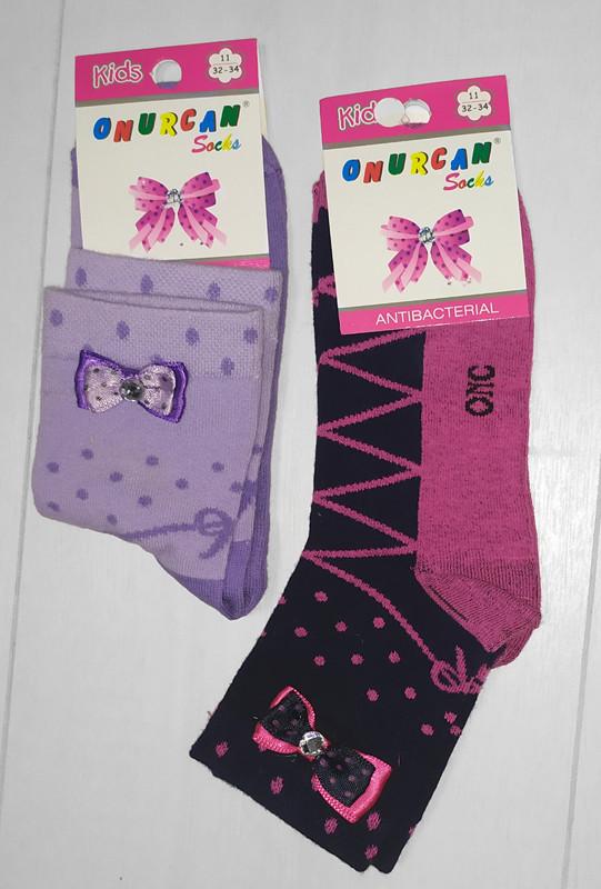 Носки детские для девочки, демисезонные,средние,с аксессуаром, Onurcan           (размер 11)
