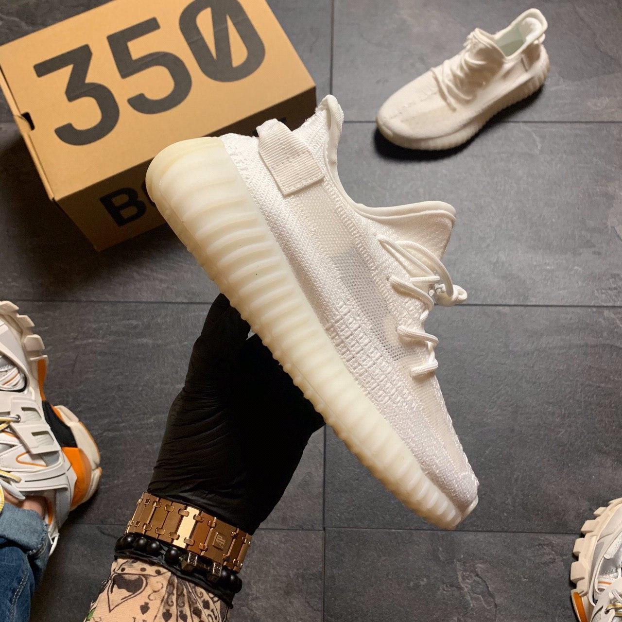Кроссовки Adidas Yeezy Boost 350 V2 Адидас Изи Буст В2 full white Белые 🔥 Адидас мужские кроссовки 🔥