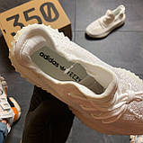 Кроссовки Adidas Yeezy Boost 350 V2 Адидас Изи Буст В2 full white Белые 🔥 Адидас мужские кроссовки 🔥, фото 5
