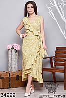 Женское платье на запах с рюшами 50-52,54-56,58-60