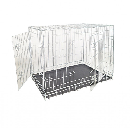 Клетка для собак, цинк, 2 двери,  78х55х62см