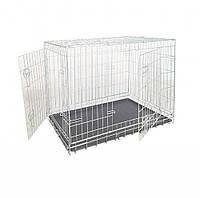 Клетка для собак, цинк, 2 двери,  93х62х69см