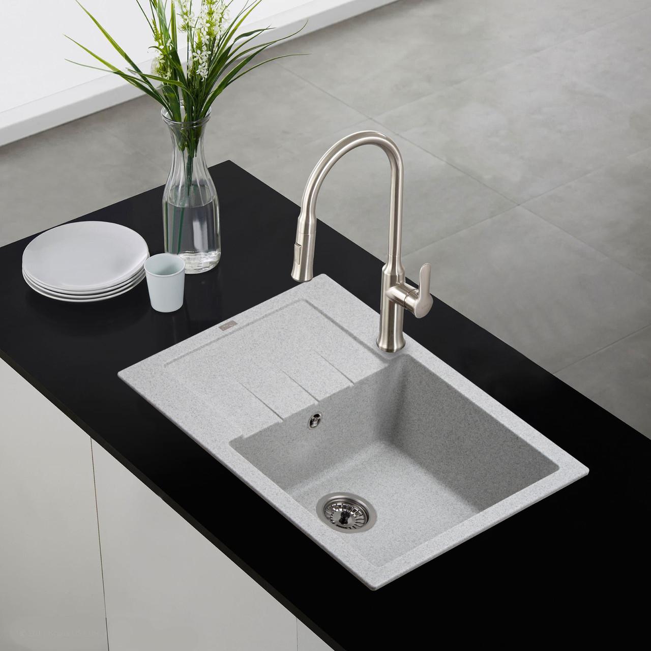 Кам'яна мийка Ventolux SILVIA (GRAY GRANIT) 620x500x200