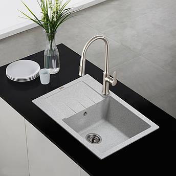 Кам'яна мийка Ventolux SILVIA (GRAY GRANIT) 620x500x200, фото 2