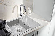 Кам'яна мийка Ventolux SILVIA (GRAY GRANIT) 620x500x200, фото 3
