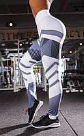 Женские стильные лосины/леггинсы для занятий спортом/фитнесом «Fitness lovers» line (белый), фото 1