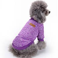 Джемпер для собак «Класик», фіолетовий, толстовка, кофта для собак, одяг для собак, фото 1