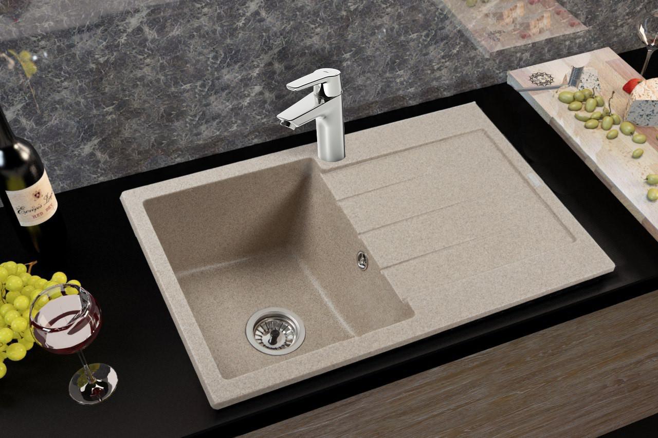 Кам'яна мийка Ventolux STELLA (BROWN SAND) 780x500x200