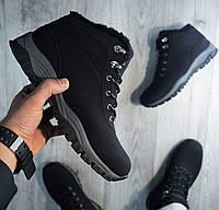 Ботинки ЗИМНИЕ Мужские Кроссовки МЕХ Чёрные (размеры: 41,42,43)