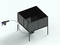 Бункер для пеллет 5м3 для запитки пеллетных горелок