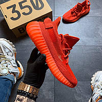 Мужские кроссовки Adidas Yeezy Boost 350 Red, Мужские кроссовки Адидас Изи Буст В2 красные