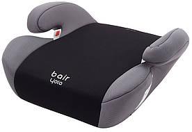 Автокресло Bair Yota бустер (22-36 кг) черный - серый