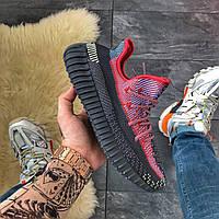Мужские кроссовки Adidas Yeezy Boost 350 v2 Holiday, Мужские кроссовки Адидас Изи Буст В2 черные красные