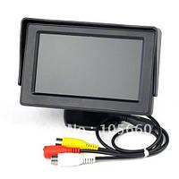 4.3 дюйма дисплей TFT цветной автомобильный универсальный жк монитор заднего вида 2 видеовхода