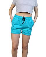 Шорты женские короткие,шорты трикотажные бирюза,шорты женские летние,жіночі короткі шорти 42-48 р.